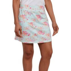 Pebble Beach Womens Floral Stripe Print Skort