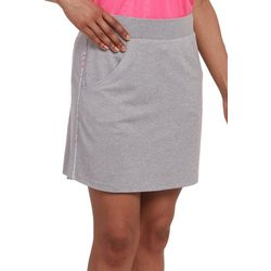 Pebble Beach Womens Solid Heathered Skort