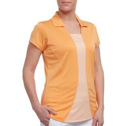 Pebble Beach Womens Solid Bodymap Polo Shirt