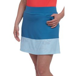 Pebble Beach Womens Solid Colorblock Pull On Skort
