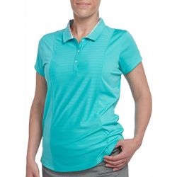 Pebble Beach Womens Solid Mesh Detail Polo Shirt