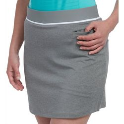 Pebble Beach Womens Solid Elastic Waist Skort