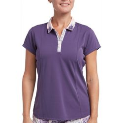 Pebble Beach Womens Printed Collar Polo Shirt
