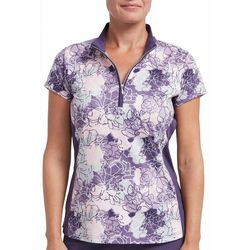 Pebble Beach Womens Impatiens Print Polo Shirt