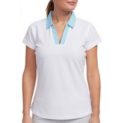 Pebble Beach Womens Contrast Pinstripe Polo Shirt