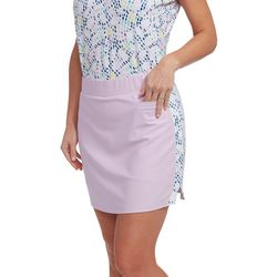 Pebble Beach Womens Solid Dotted Panel Skort