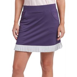 Pebble Beach Womens Contrast Ruffle Trim Skort