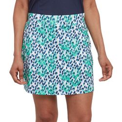 Pebble Beach Womens Leaf Print Skort