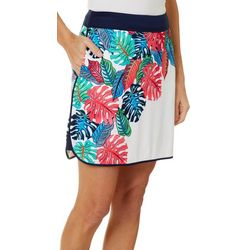 Greg Norman Collection Womens Royal Palm Pull On Skort