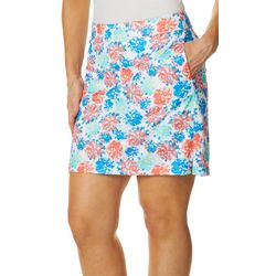 Greg Norman Collection Womens Peony Floral Print Skort