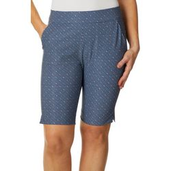 Greg Norman Collection Womens Geometric Stencil Shorts