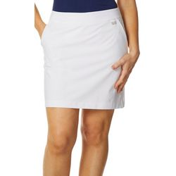 Greg Norman Collection Womens Solid Pull On Skort