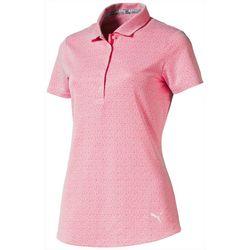 Puma Golf Womens Swift Printed Short Sleeve Polo Top