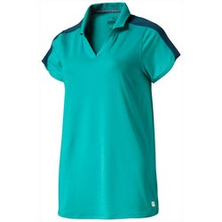 Puma Golf Womens Petal Solid Short Sleeve Polo Top