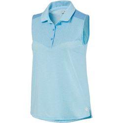 Puma Golf Womens Vertical Printed Sleeveless Polo