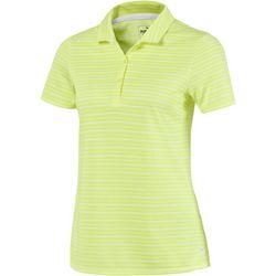 Puma Golf Womens Links Striped Short Sleeve Polo Top