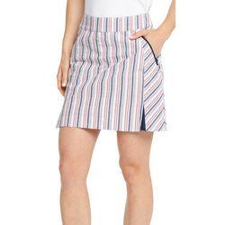 IZOD Golf Womens Seersucker Striped Skort
