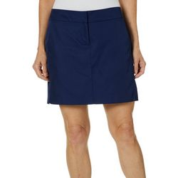 IZOD Golf Womens Solid Hook And Eye Skort