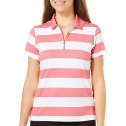 IZOD Golf Womens Striped Polo Shirt