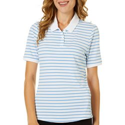 Oakley Womens Enjoy Striped Short Sleeve Polo Shirt