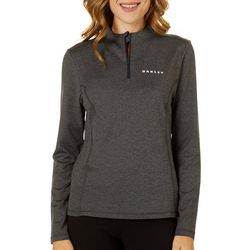 Oakley Womens Balata Heathered Long Sleeve Polo Shirt