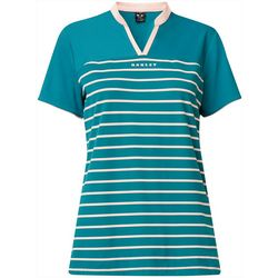 Oakley Womens Bella Striped Short Sleeve Polo Shirt