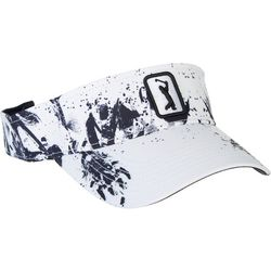 PGA Tour Womens Inky Flower Embroidered Logo Visor