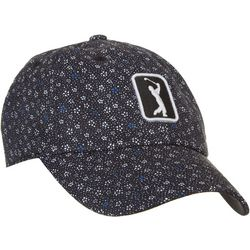 PGA Tour Womens Floral Embroidered Logo Cap