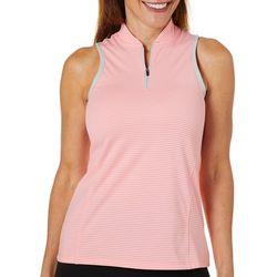 Columbia Golf Womens Striped Icon Sleeveless Polo Shirt