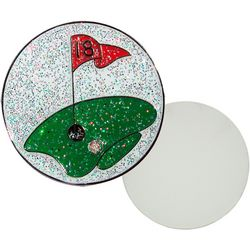 Navika The Green Glitzy Ball Marker Magnetic Pin