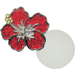 Navika Hibiscus Glitzy Ball Marker Magnetic Pin