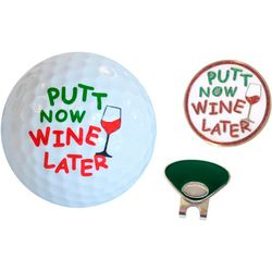 Navika Putt Now Wine Later 3-Peice Gift Set