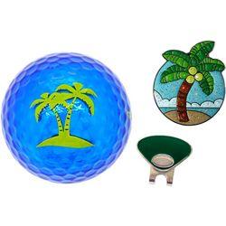 Navika Palm Tree 3-Piece Golf Accessory Gift Set