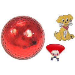 Navika Womens 3-pc. Puppy Golf Ball and Marker Gift Set