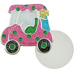 Navika Womens Golf Cart Ball Marker Lapel Pin
