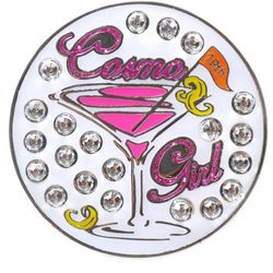 Navika Womens Cosmo Girl Ball Marker Hat Clip