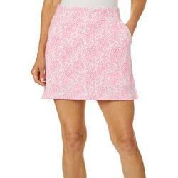 Pin & Clover Womens Floral Print Pull On Skort