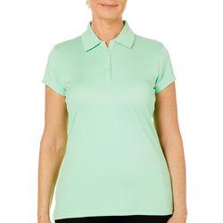Tournament Collection Womens Texture Short Sleeve Polo Shirt