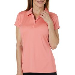 Tournament Collection Womens Texture Short Sleeve Polo Shirt