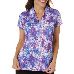 Tournament Collection Womens Digital Short Sleeve Polo Shirt
