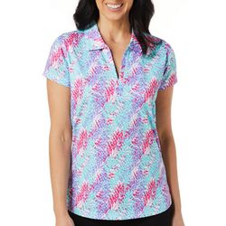 Tournament Collection Womens Digital Palm Polo Shirt