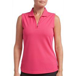 Tournament Collection Womens Textured Sleeveless Polo Shirt