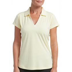 Tournament Collection Womens Short Sleeve Stripe Polo Shirt