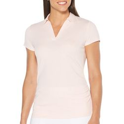 PGA TOUR Womens Short Sleeve Airflux Solid Polo Shirt