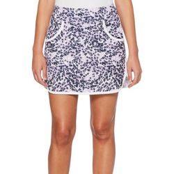 PGA TOUR Womens Driflux Floral Print Pull On Skort