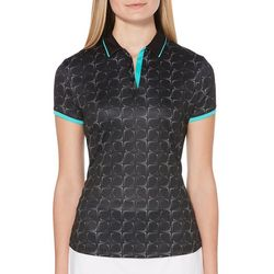 PGA TOUR Womens Kinetic Pixel Short Sleeve Polo Shirt