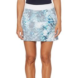 PGA TOUR Womens Driflux Tropical Shade Striped Pull On Skort