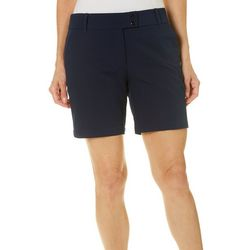 PGA TOUR Womens Solid Stretch Shorts