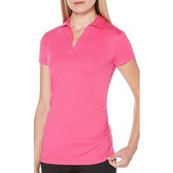 PGA TOUR Womens AirFlux Solid Polo Shirt