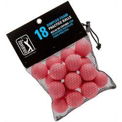 PGA Tour 18 Dimpled Foam Practice Golf Balls